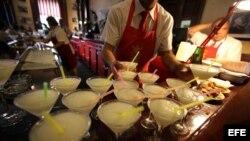 """Daiquiris en el bar-restaurante """"El Floridita"""""""