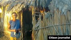 Reporta Cuba. Damnificado por ciclones. Foto: Alexander Verdecia.