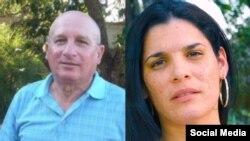 El opositor Félix Navarro y su hija Saily Navarro