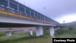 Puente internacional en Matamoros.
