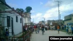 Acto de repudio captado por reportero ciudadano