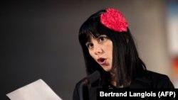 La autora cubana Wendy Guerra en un festival de literatura en las afueras de París el 24 de septiembre de 2010. (Betrand Langlois/AFP).