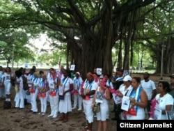 Reporta Cuba. Damas de Blanco en La Habana. Foto: Ángel Moya.