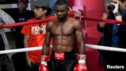 """El boxeador cubano Guillermo """"El Chacal"""" Rigondeaux."""