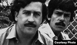 """Popeye con su """"patrón"""" Pablo Escobar."""