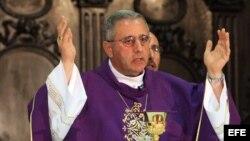 Bruno Musaro, nuncio apostólico en Cuba, durante una misa en La Habana.