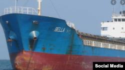Uno de los 4 barcos incautados con gasolina.