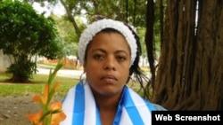 Severamente golpeada: la Dama de Blanco y activista de UNPACU Yaquelín Heredia Morales.
