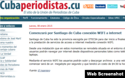 El sitio de la UPEC Cubaperiodistas anunció que este mes se iniciaría el servicio de Internet vía Wi-Fi.