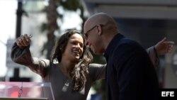 "Los protagonistas de ""Fast & Furious 8"" Michelle Rodríguez y Vin Diesel. Archivo."