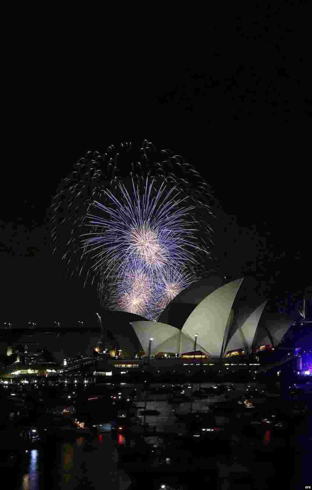Fuegos artificiales en Sidney