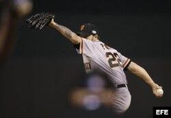 El lanzador de los Gigantes Jake Peavy.