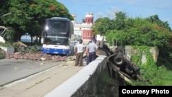 Un muerto y seis heridos por accidente en Matanzas (Hugo García, Facebook).