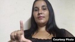 Sorania Cruz Rosales, activista de Cuba Independiente y Democrática (CID).