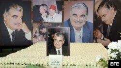 Tumba del fallecido primer ministro libanés Rafic Hariri, en el centro de Beirut, Líbano