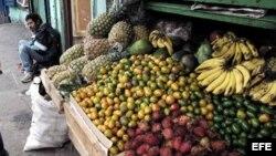 Puesto de venta de frutas