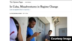 Editorial del diario The New York Times sobre Cuba, EE UU y USAID