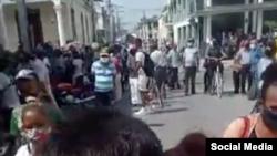 Protesta en Las Tunas.