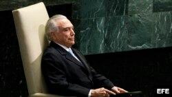El presidente brasileño, Michel Temer.