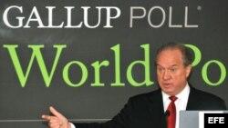 Fotografía de archivo del director ejecutivo de la Organización Gallup, Jim Clifton. EFE/Alejandro Bolívar