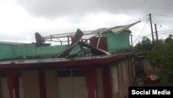 Daños en Maisí tras paso de la tormenta Laura. (Foto: Facebook)