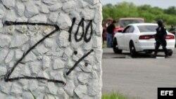 """Vista de un grafiti que dice """"Z 100%"""" aludiendo al grupo criminal de los Zetas."""