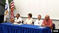 Actividad en MDC de exiliados y activistas de DD HH