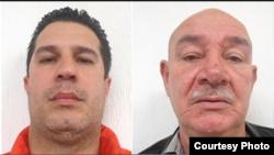 Los cubanos Roberto Marrero La Rosa (d) y Johnny Hernández Sardiñas, detenidos en México.