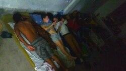 Los huelguistas de San Isidro. (Foto: Facebook/Michel Matos)
