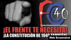 Logo de Frente Constitucionalista Cubano en Facebook.