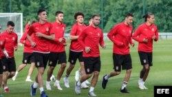 Serbia training