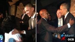 Encuentro de Barack Obama con Berta Soler y Guillermo Fariñas (noviembre, 2013). Archivo.