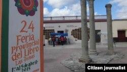 Reporta Cuba. Feria del Libro Las Tunas. Foto: Facebook Telecentro TunasVisión.