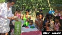 Fiesta con niños Reporta Cuba Foto Leodan Suarez