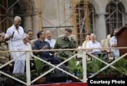Haila le canta a Fidel Castro