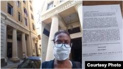 Lucinda González entrega petición en Tribunal Supremo Fotos de su perfil de Facebook