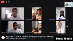 Facebook Live de UNPACU en convocatoria a Ayuno del 13 al 15 de mayo