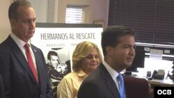 Conferencia de prensa de congresistas.
