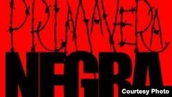 Detalle de un cartel sobre la Primavera Negra cubana del 2003.