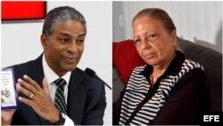 Oscar Elías Biscet y Martha Beatriz Roque, dos de los ex prisioneros de conciencia con licencia extrapenal en Cuba