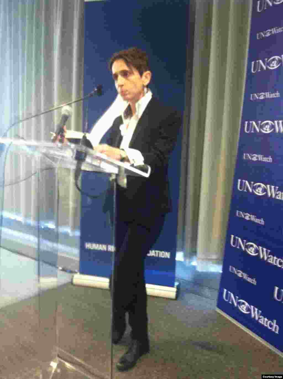 Masha Gessen, periodista y activista LGBT, de Rusia.