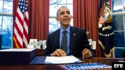 El presidente Barack Obama en la oficina oval de la Casa Blanca. EFE