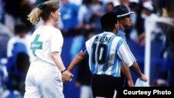 Maradona en el Mundial de 1994