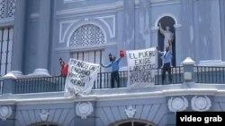 Protesta en Santiago de Cuba.