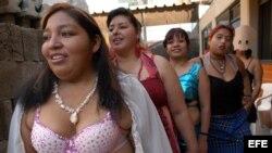 Trabajadoras sexuales en México.