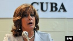 Ministra de Justicia, María Esther Reus. (Cuba).