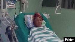 Xiomara de las Mercedes Cruz Miranda continúa en la sala de terapia intensiva del Hospital La Covadonga.