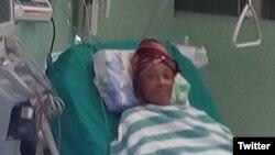 Xiomara de las Mercedes Cruz Miranda continúa en la sala de terapia intensiva del Hospital Clínico Quirúrgico Salvador Allende.