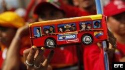 Seguidores del presidente encargado de Venezuela Nicolás Maduro.