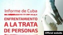 """Portada del """"Informe de Cuba sobre trata de personas y corrupción de menores 2014""""."""